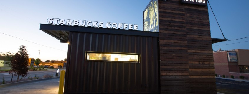 Starbucks Shipping Container Drive Thru