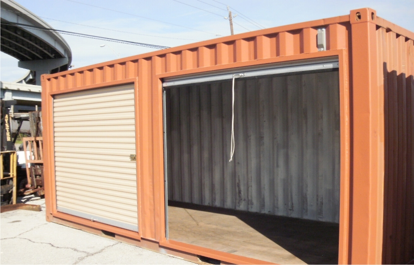 Shipping and storage container modifications conglobal for Garage modification