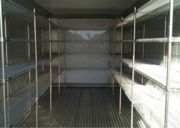 Inside of a Refrigerated Container