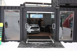 BMW Mini Showroom with Container Modifications by CGI