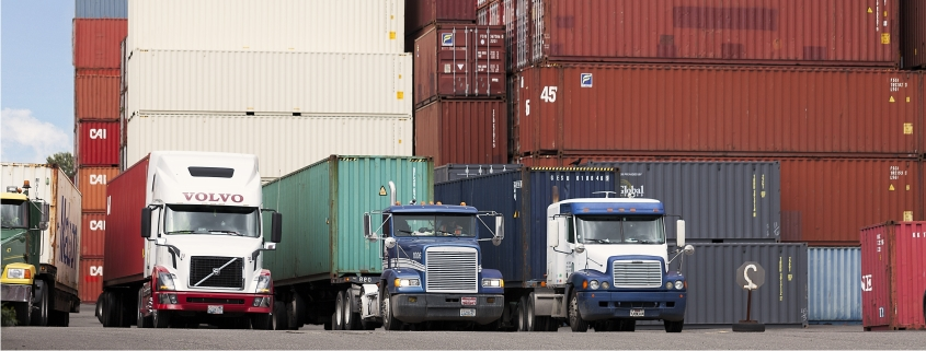 Cargo Containers on Trucks
