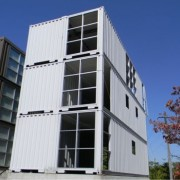 Three-Story Shipping Container Buildling