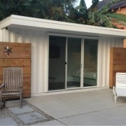 Small Shipping Container for Pool-side Buildling