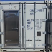 Back of Refrigerated Container