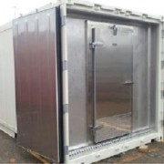 Door Added to a Refrigerated Container